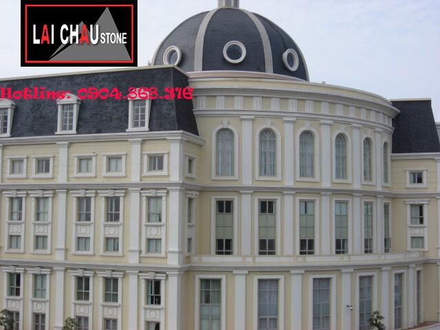 Mái đá Slate Lai Châu tòa nhà Bộ Tài Chính (đá lai châu, da lai chau)